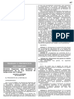 D.S. Que Modifica El Reglamento de La Ley General de Inspeccion Del Trabajo