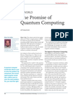 Jeff Kabachinski (2013) The Promise of Quantum Computing. (Jnl. Biomedical Instrumentation & Technology)