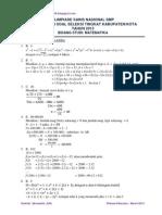 Solusi OSN Matematika SMP 2013 Kabupaten PG2