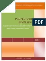 PROYECTO DE INVERSIÓN - NIDIA