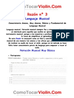 RAZÓN Nº 3 Conocimiento Fundamental Básico, Ameno de Lenguaje Musical