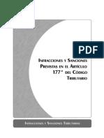 Infracciones y Sanciones Previstas en El Aritculo 177 Del Ct