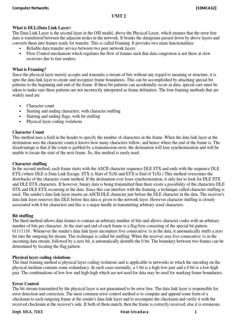 Unit2_CN | Network Topology | Transmission Control Protocol