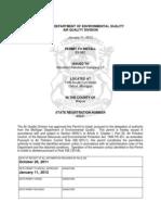 MDEQ Marathon Petroleum Permit 63-08C