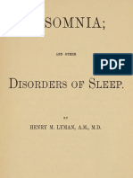 Insomnia; and Other Disorders of Sleep by Henry M. Lyman