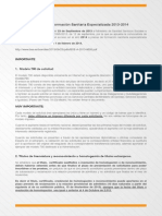 Convocatoria MIR 2013-14