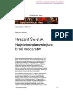 Ryszard Świętek - Agentura wpływu
