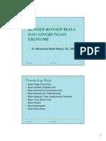 Konsep-konsep Biaya Dan Lingkungan Ekonomi