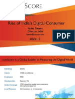 Comscore India-The Rise of India's Digital Consumer Aug 2012
