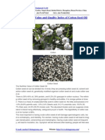 The Nutritive Value and Quality Index of Cotton Seed Oil