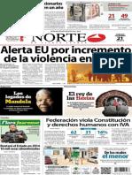 Periódico Norte de Ciudad Juarez 21 de Diciembre de 2013