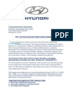 Hmil - Hyundai Motors India Ltd. Interview Call Letter - December 23rd 2013