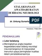 PENATALAKSANAAN KEGAWATDARURATAN NEUROLOGI