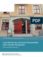 Local Democracy and Social Sustainability With a Gender Perspective 2014