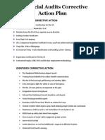Gap Social Audits Corrective Action Plan