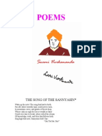 POEMS-The SONG of the SANNYASIN  Swamivivekananda's Selected Complete Works Book