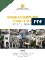 Urban Obervation-Zokak El Blat- Beirut - Lebanon
