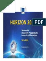 Horizon2020 Presentation