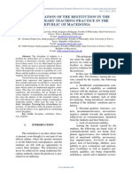 IMPLEMENTATION OF THE RESTITUTION IN THE CONTEMPORARY TEACHING PRACTICE IN THE REPUBLIC OF MACEDONIA