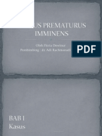 PARTUS PREMATURUS IMMINENS