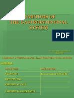 15. Symptoms of the Gastro-Intestinal System