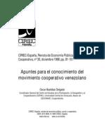 Apuntes Para El Conocimiento Del Movimiento Cooperativo Venezolano