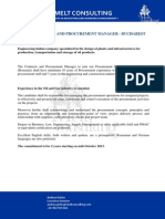 Contracts and Procurement Manager