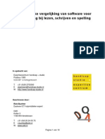 Onafhankelijke vergelijking van software voor ondersteuning bij lezen, schrijven en spelling