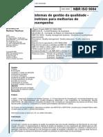 ABNT - Sistemas de Gestao Da Qualidade - Diretrizes Para Melhorias de Desempenho