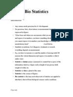 Biostatistics (Dr Shilpi Gilra)