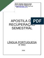 APOSTILA DE RECUPERAÇÃO SEMESTRAL - 6 ANO