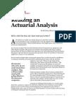 Actuarial Analysis