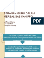 Peranan Guru Dalam Merealisasikan FPG