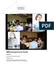 MBA Assignments Guide 2011(1)