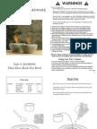 Restoration Hardware - Rock Fire Bowl Instructions