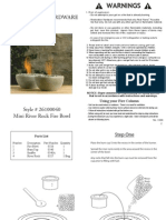 Restoration Hardware - Rock Fire Bowl Instructions