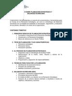 Planeacion Estrategica y Balanced Socorecard 2012