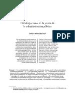 CORTIÑAZ, Leon_Del Despotismo en la teoría de la administración pública
