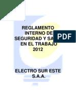Reglamento Interno de Seguridad y Salud en El Trabajo 2012