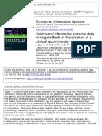 Enterprise Information Systems - data mining methods