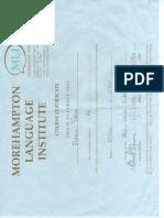 Certificato corso di lingua inglese 2010