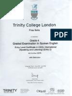 Certificato corso di lingua inglese 2009