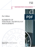 Elements of Strategic Technology Management