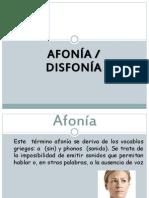 Fonoaudiologia Afonia