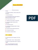 Calendário de Provas 2013.2014