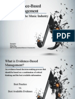 disruption of music industry - org behavior