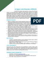 Work Related Upper Limb Disorders - QEB Standards-15