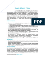 Health & Safety Policy QEB Standards 13