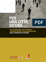 Pubblicazione Sicurezza Urbana 2012