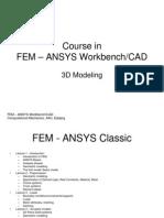 FEM ANSYS Workbench 3d Modeling